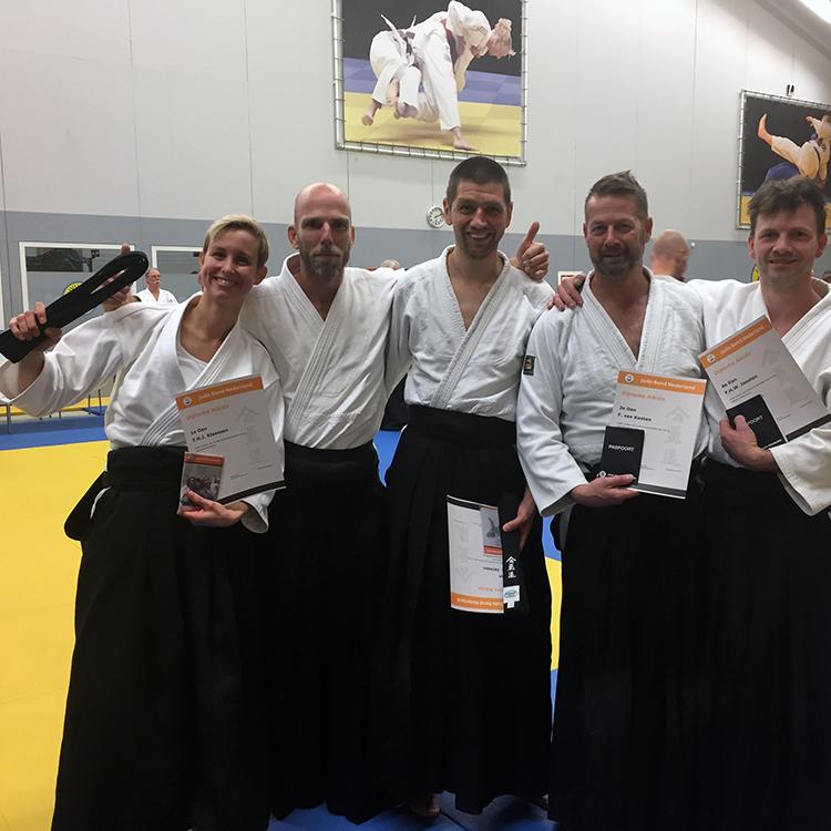 Aikido geslaagde maatjes van Sakura club in Nijmegen
